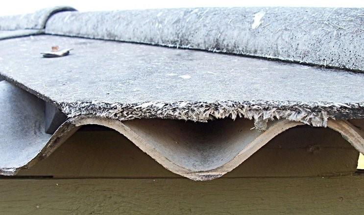 Asbestos exposure from disturbed asbestos roofing